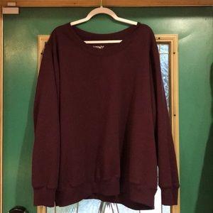 Terra & Sky 4X maroon sweatshirt